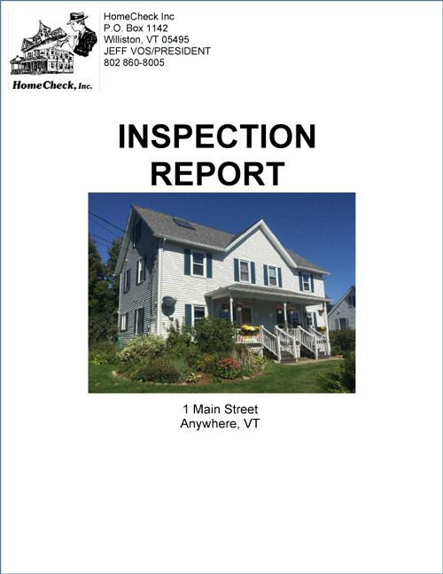 Vermont Home Inspection Report
